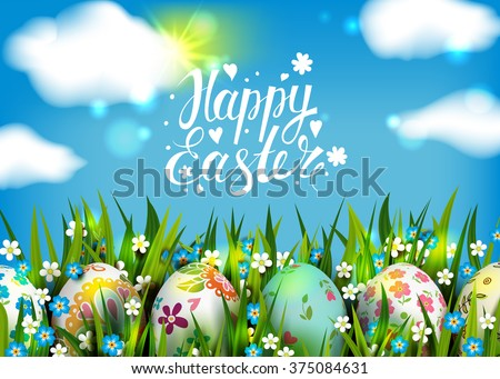 easter card template with