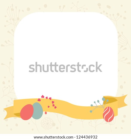 Easter card. Vector element