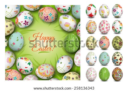 easter card vector holiday