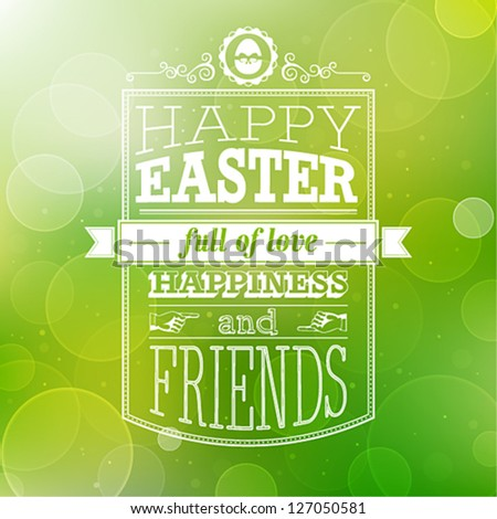 Easter card. Vector illustration. - stock vector
