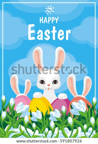 easter card with a picture of