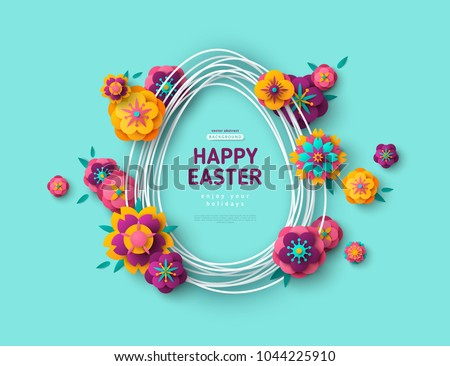 easter card with egg shape