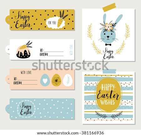 Doodle easter gift tag download free vector art stock graphics easter cards gift tags stickers and labels template for greeting scrap booking negle Choice Image