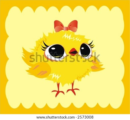 clip art easter chicken. stock vector : easter chicken