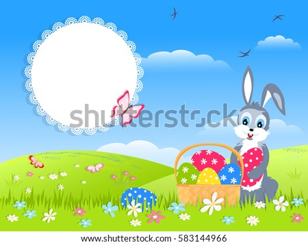 easter childish card   cartoon