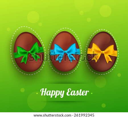 easter chocolate egg with