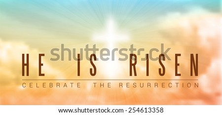 easter christian motive with