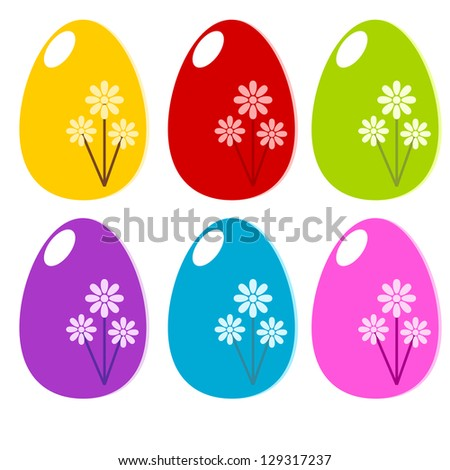 Easter colorful egg in the easter holiday concept illustration