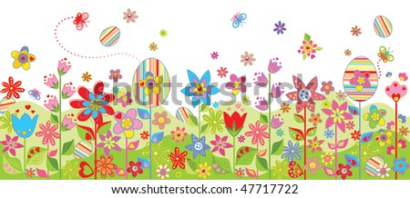 Easter colorful seamless background