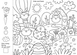 Easter Coloring Pages Printable and worksheet. Easter Activities for Kids, Easter Party, Easter Games.