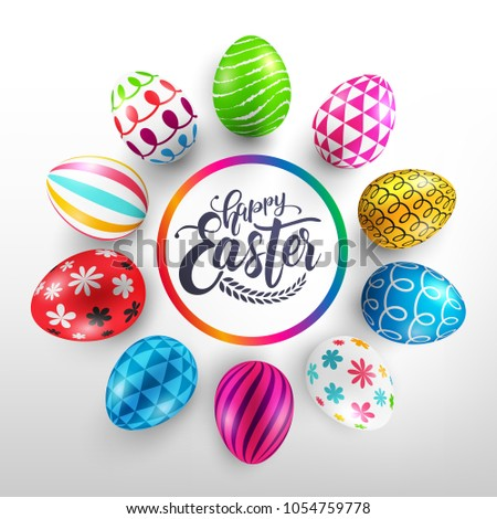 easter day banner template with