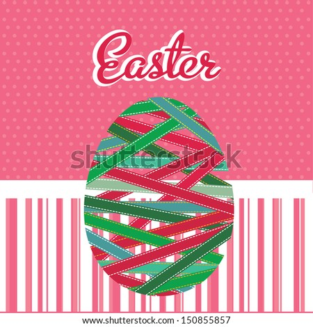 easter design over pink