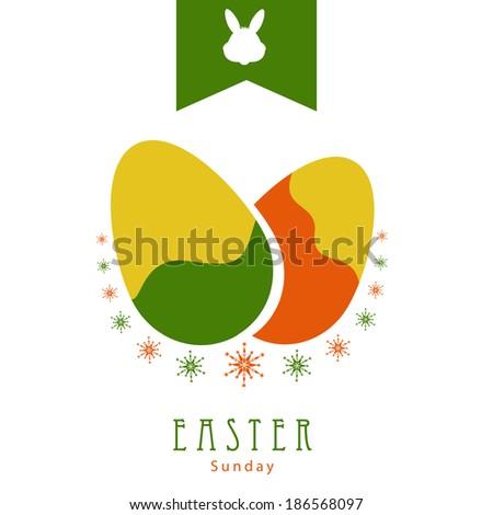 Easter Egg abstract Background for Easter Sunday.Eps10