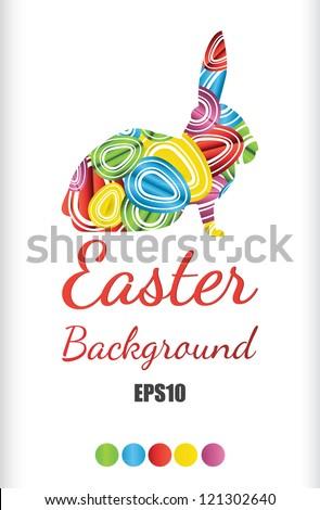 easter egg background illustration