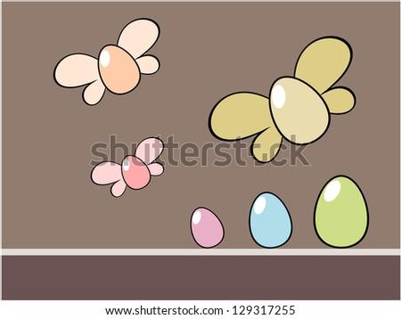 Easter egg background in the easter holiday concept illustration