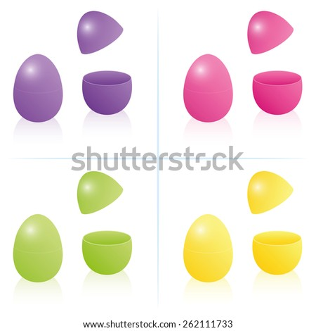 easter egg boxes  closed and