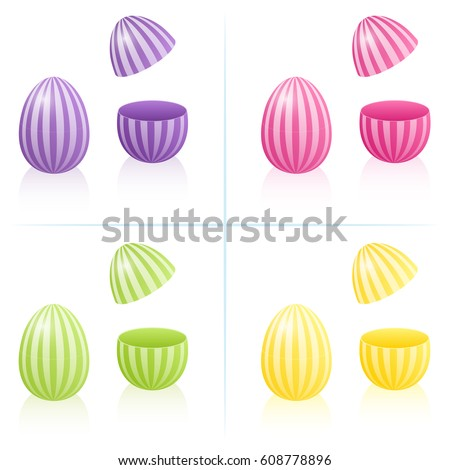 easter egg boxes with striped