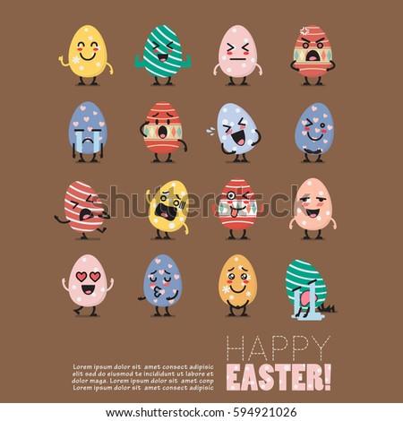 easter egg character emoji set