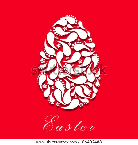 Easter Egg Floral Abstract Design for Easter Sunday.Eps10
