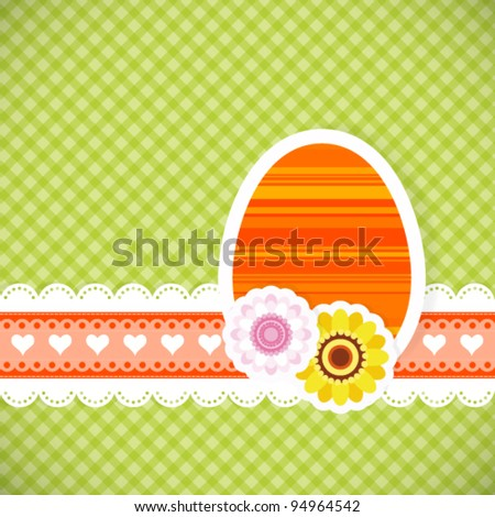 Easter egg from paper Easter card vector background eps 10
