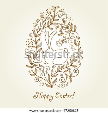 easter egg, greeting card