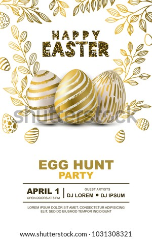 easter egg hunt party vector