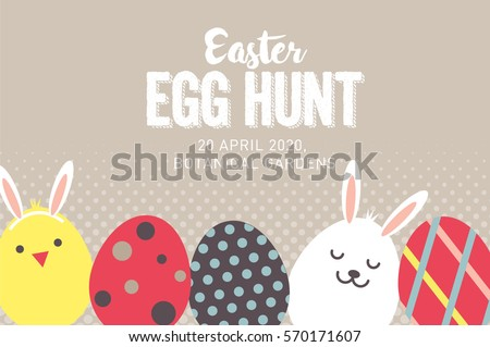 Easter Egg Vectors – Easter Invitations Template