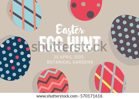 easter egg hunt poster