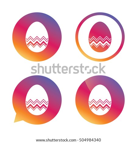 easter egg sign icon easter