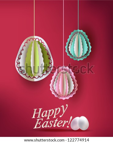 Easter eggs decoration vector illustration