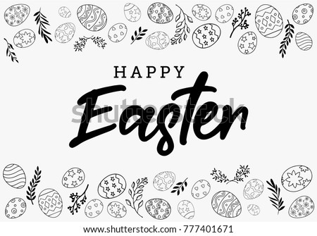 Black And White Vector Easter Eggs Download Free Vector Art Stock