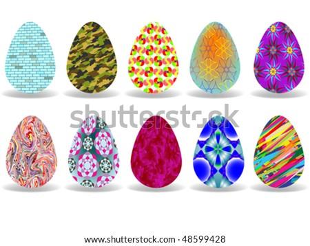 easter eggs design over white background, abstract vector art illustration #48599428