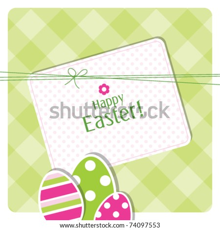 easter eggs - easter background card with copy space