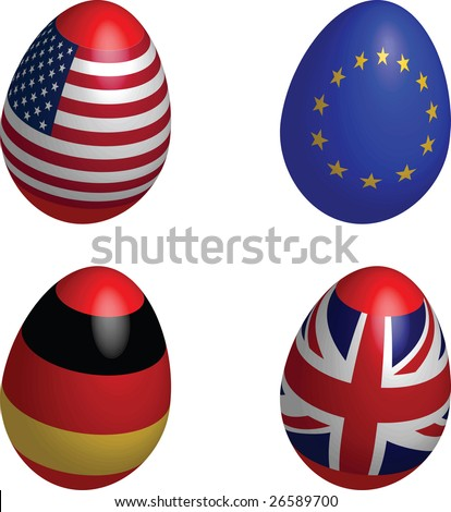easter, eggs, flag, USA, EU, Germany, United Kingdom