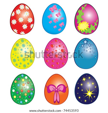 easter eggs clipart. stock vector : Easter eggs,