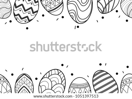 Black And White Vector Easter Eggs Download Gratis Vectorkunst En