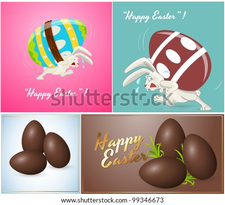 vector of chocolate easter eggs download free vector art stock