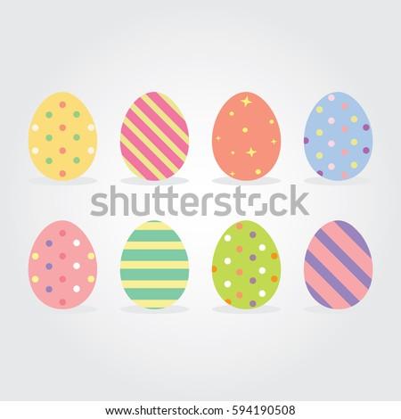 Easter eggs Vector illustration. Easter eggs for Easter holidays design isolated on white background.