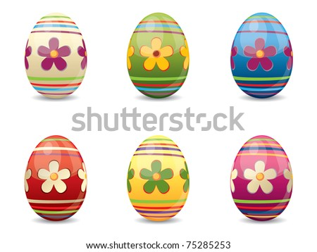 Easter Eggs with various colors