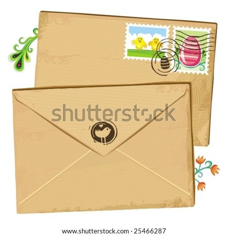 Easter envelope and stamps. To see similar, please VISIT MY GALLERY.