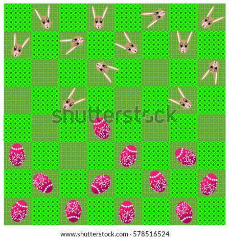 easter game of checkers on
