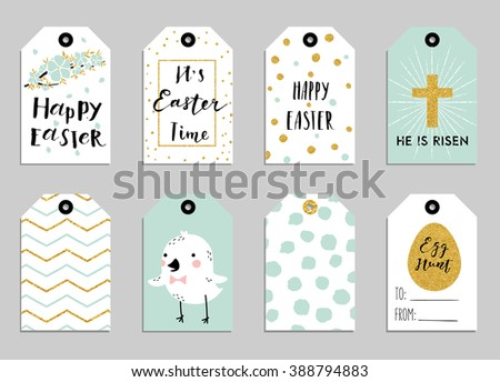 Colorful easter tags download free vector art stock graphics easter gift tags with cute easter bunny watering can with flowers and easter greetings negle Choice Image