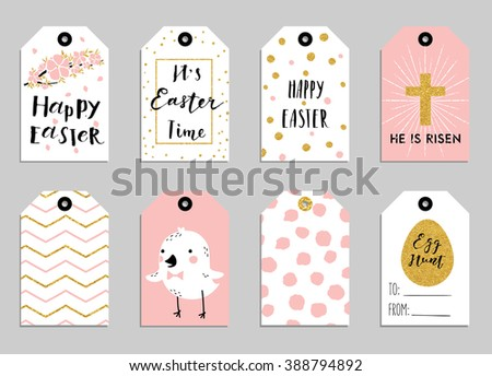 Easter gift tag vector set download free vector art stock easter gift tags with cute easter bunny watering can with flowers and easter greetings negle Images