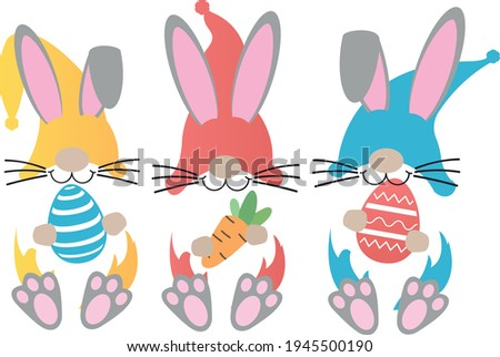 easter gnomes svg vector