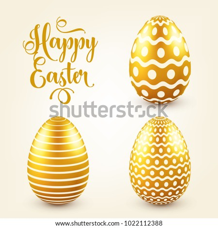 easter golden egg with