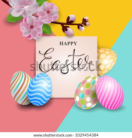 Easter greeting card. Vector stock. #1029454384