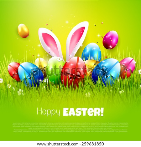 easter greeting card with