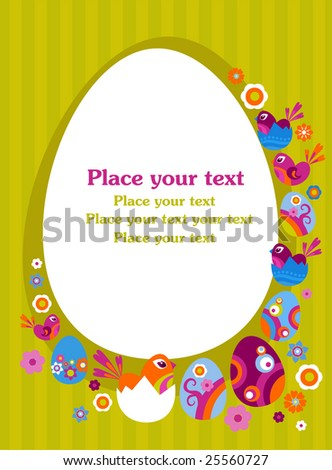ShutterStock Easter greeting card with decorative egg 25560727