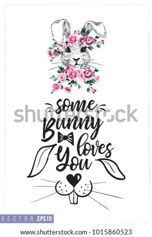 easter greeting card with white