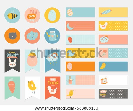 Easter gift tags download free vector art stock graphics images easter greeting gift tags stickers and labels template in vector holiday spring and summer negle Image collections